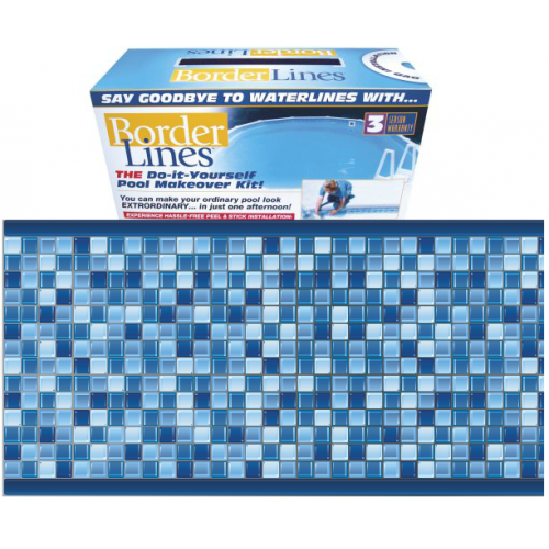 Crystal blue 80 80 feet do it yourself designer 9in crystal blue pattern borderlines pool makeover kit solutioingenieria Image collections