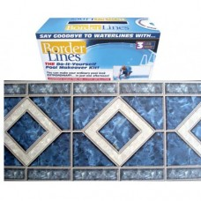 80 FEET Do-It-Yourself Designer 9in Blue Diamond Pattern Plus Free Installation Kit