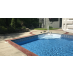 80 FEET Do-It-Yourself Designer 9in Blue Diamond Pattern Borderlines Pool Makeover Kit