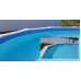 80 FEET Do-It-Yourself Classic 6in Meadow Blue Pattern Borderlines Pool Makeover Kit