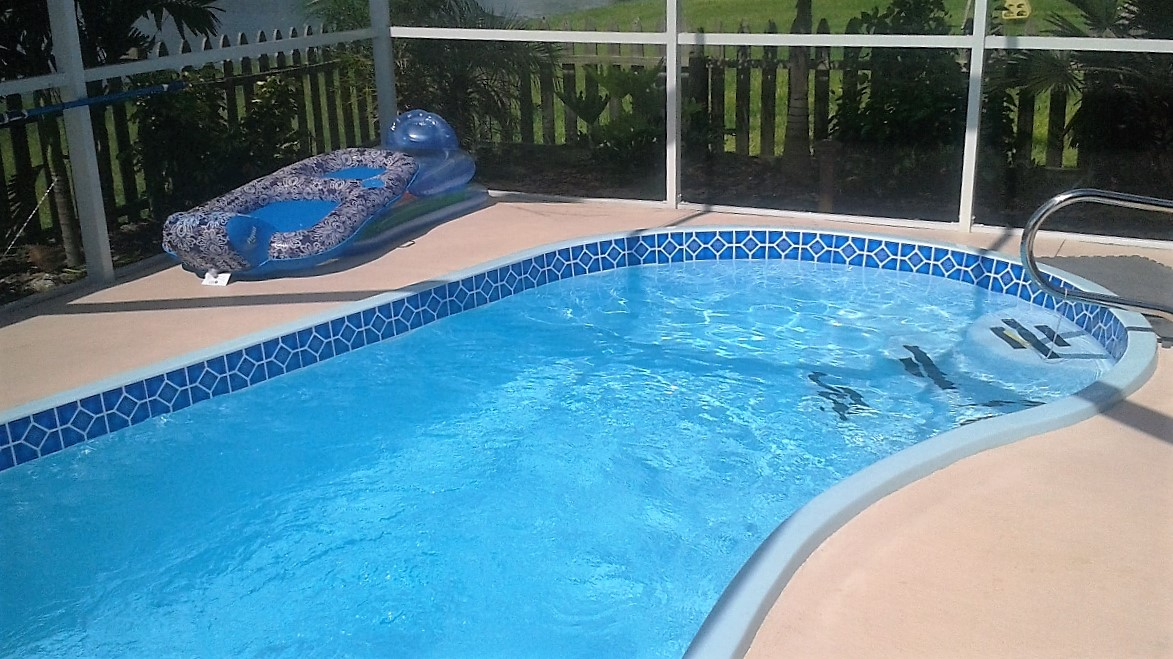 Borderlines pool border for pools they added a custom look to our fiberglass pool we would definitely recommend these borders ppazfo
